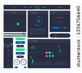 modern web design elements... | Shutterstock .eps vector #1356706640