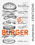 burger illustration for... | Shutterstock .eps vector #1356710240