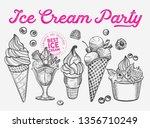 ice cream illustration for... | Shutterstock .eps vector #1356710249