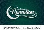 welcoming ramadan greeting card ...   Shutterstock .eps vector #1356712229