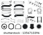 handwriting style ribbon frame... | Shutterstock .eps vector #1356713396