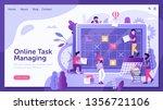 online task managing concept...