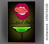 cocktail party logo symbol... | Shutterstock .eps vector #1356724130