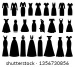 dress icon for women. vector.... | Shutterstock .eps vector #1356730856