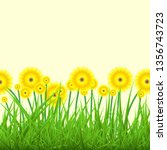 spring background with green... | Shutterstock .eps vector #1356743723