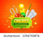 cricket championship league... | Shutterstock .eps vector #1356743876