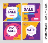 abstract sale banners for... | Shutterstock .eps vector #1356747536