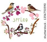 vector illustration of blooming ...   Shutterstock .eps vector #1356753590