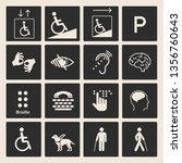disabled people care help... | Shutterstock .eps vector #1356760643