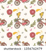 spring seamless background with ... | Shutterstock .eps vector #1356762479