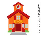 vector school building | Shutterstock .eps vector #135676976
