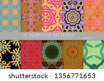 collection of seamless patterns.... | Shutterstock .eps vector #1356771653