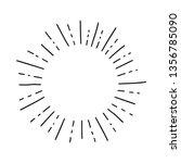 sun burst  star burst sunshine. ... | Shutterstock .eps vector #1356785090