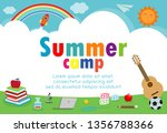 kids summer camp education... | Shutterstock .eps vector #1356788366