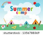 kids summer camp education... | Shutterstock .eps vector #1356788369