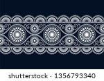 seamless vector white ethnic... | Shutterstock .eps vector #1356793340