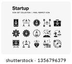 startup icons set. ui pixel... | Shutterstock .eps vector #1356796379