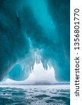 inside the ice cave. lake... | Shutterstock . vector #1356801770