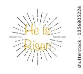 he is risen inscription with... | Shutterstock .eps vector #1356805226