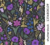 spring magic. seamless pattern. ... | Shutterstock .eps vector #1356808109