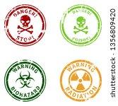 vector set of color warning...   Shutterstock .eps vector #1356809420