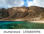 lagoon with a coral reef... | Shutterstock . vector #1356834596