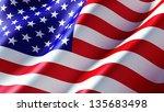 american flag | Shutterstock . vector #135683498
