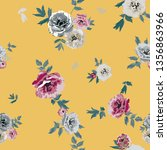 seamless floral pattern in... | Shutterstock .eps vector #1356863966