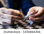 closeup shot of hands of... | Shutterstock . vector #1356866306