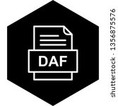 daf file document icon   | Shutterstock .eps vector #1356875576