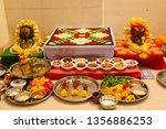 indian holy rituals  | Shutterstock . vector #1356886253
