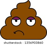 bored  tired dung emoji vector... | Shutterstock .eps vector #1356903860