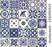 blue portuguese tiles pattern   ... | Shutterstock .eps vector #1356904319