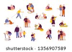 set of people characters in... | Shutterstock .eps vector #1356907589