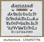 """americana"". retro font.... | Shutterstock .eps vector #1356907796"