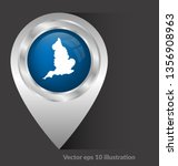 map of britain and map pin....