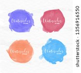 watercolor stain collection | Shutterstock .eps vector #1356916550