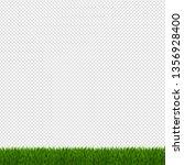 spring green grass border    Shutterstock . vector #1356928400
