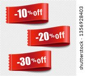 sale tags set transparent... | Shutterstock . vector #1356928403