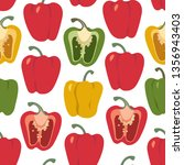 bell pepper colorful... | Shutterstock .eps vector #1356943403