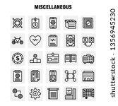 miscellaneous line icons set...