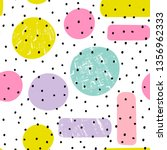 hand drawn various shapes  dots ... | Shutterstock .eps vector #1356962333