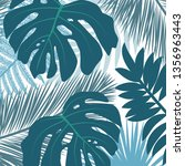 tropic leaves  vector... | Shutterstock .eps vector #1356963443