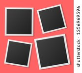 black and white photo frames... | Shutterstock .eps vector #1356969596