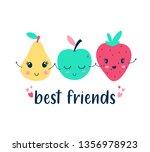 hand drawing fruit illustration ... | Shutterstock .eps vector #1356978923