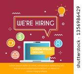 we are hiring poster... | Shutterstock .eps vector #1356986429