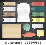 collection of various papers ... | Shutterstock .eps vector #135699938
