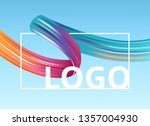 white frame with abstract paint ... | Shutterstock .eps vector #1357004930