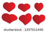 different hearts on a white... | Shutterstock .eps vector #1357011440