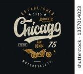motorcycles typography.... | Shutterstock .eps vector #1357014023